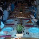 Beim Essen im Restaurant