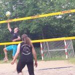 Im Sommer beachen im Sporti